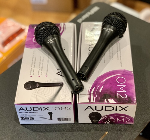 2 Audix Om2 Dynamic Vocal Microphones