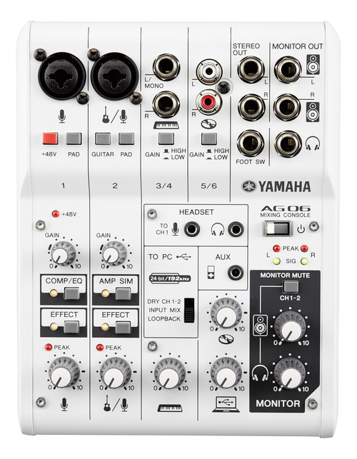 Yamaha AG06 6 channel Mixer and USB Audio Interface