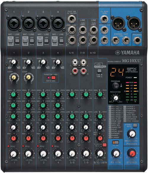 Yamaha MG10XU 10 channel Mixer with USB and FX