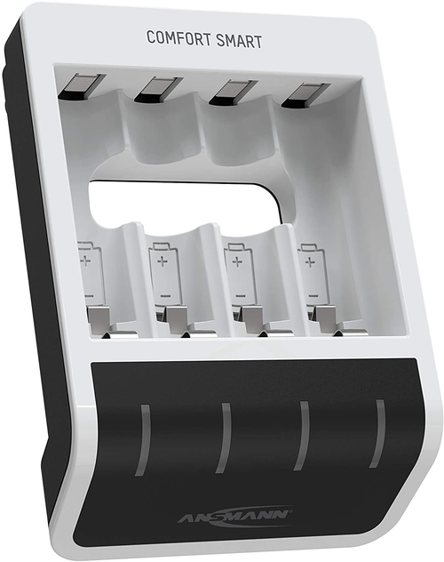 Ansmann Comfort Smart Series charger for 4 AA / AAA with free Fujitsu batteries