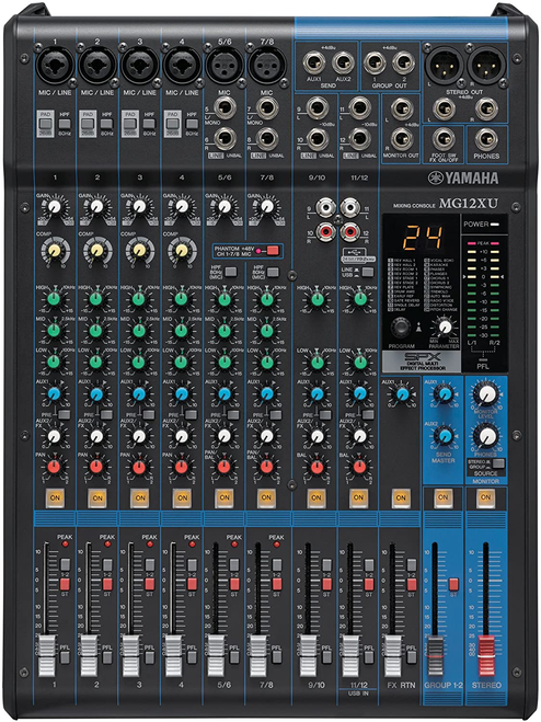 Yamaha MG12XU 12-channel Mixer with USB and Effects