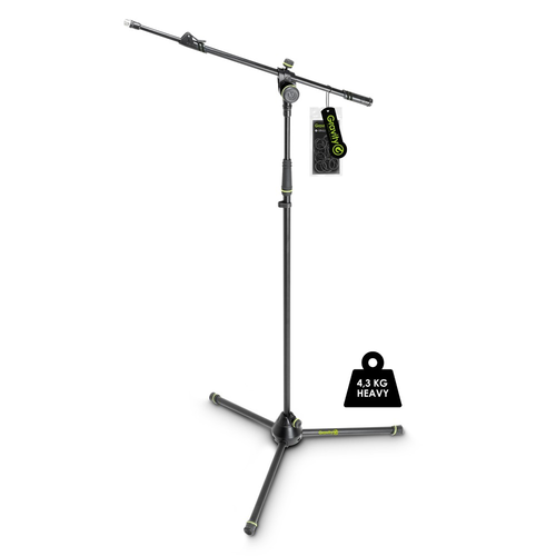 Gravity MS 4322 HDB Heavy Duty Microphone Stand, Tripod, 2-Point Telescopic Boom
