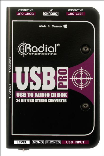Radial Engineering USB-Pro™ Stereo USB Laptop DI