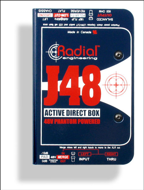 Radial Engineering J48™ Phantom Powered Active Direct Box