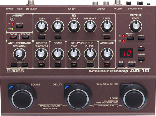 Boss AD-10 Acoustic Guitar Processor Pedal used demo