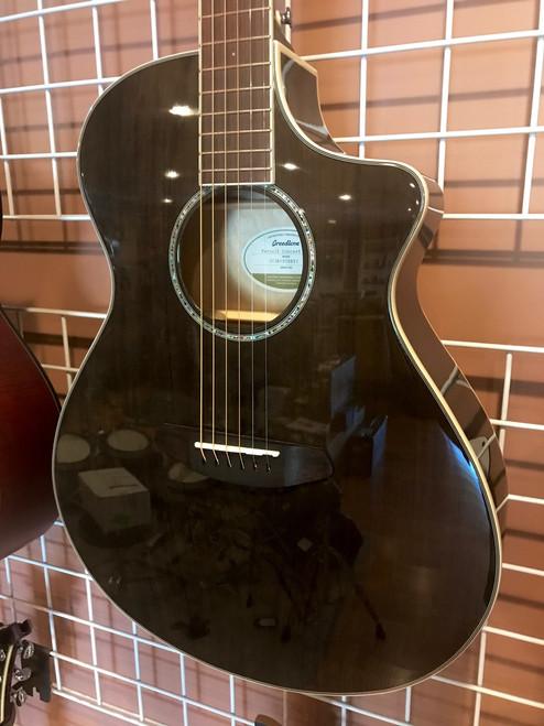 Breedlove Pursuit Concert Trans-Black CE Sitka-Maple Acoustic Electric Guitar LTD