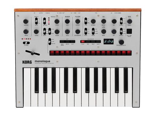 Korg Monologue Analog Synthesizer Silver open box