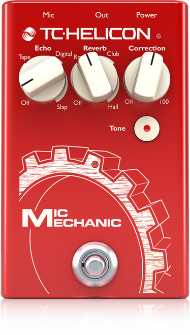 TC Helicon MIC MECHANIC 2 Vocal Effects pedal with Reverb Echo Pitch Correction