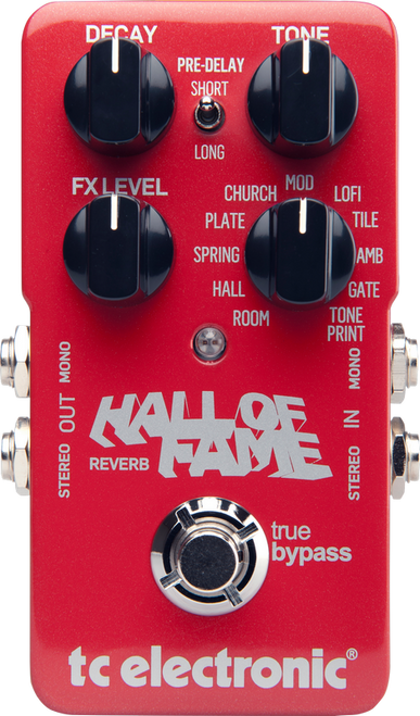 TC Electronics Hall of Fame Reverb guitar effects pedal