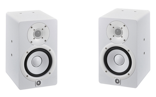 Yamaha HS5 powered Studio Monitors pair white