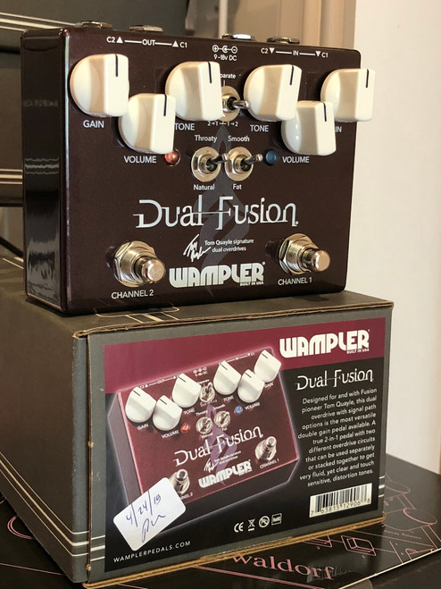 Wampler Tom Quayle Dual Fusion 2 channel overdrive guitar pedal
