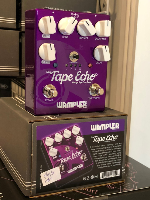 Wampler Faux Tape Echo v2 guitar effects pedal demo