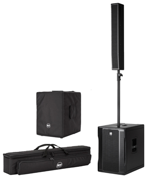 RCF Evox 12 Active Portable PA speaker system with Covers