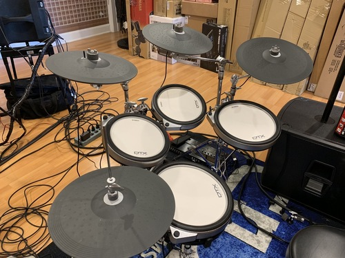 Yamaha DTX760HWK Electronic Drum Set store display
