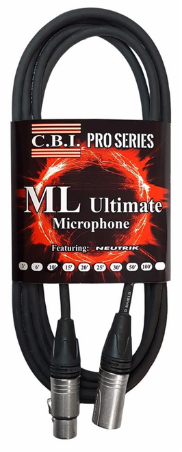 C.B.I. MLU-20 Ultimate 20ga wire Braided Shield Neutrik XLR MIC cable