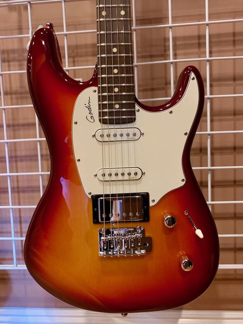 Godin Session Cherry Burst Electric Guitar HG RN with Bag