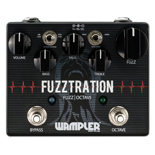 Wampler Fuzztration Fuzz and Octave guitar effects pedal