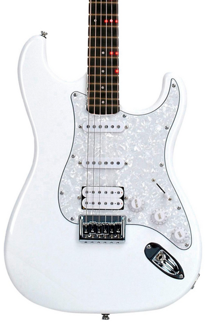 Fretlight FG-621WH White wireless learning electric guitar system Katana Fret service