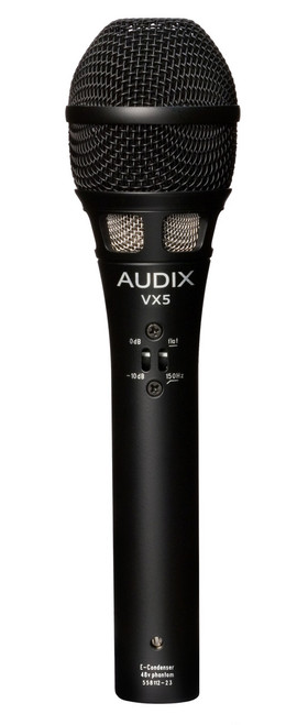 Audix VX5 Condenser Vocal Microphone for live, broadcast and recording