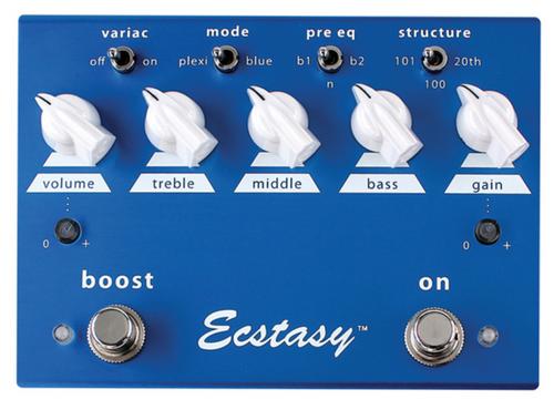 Bogner Ecstasy Blue Distortion Boost guitar pedal