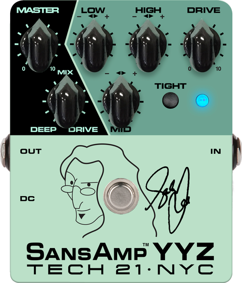 Tech 21 YYZ Geddy Lee Signature SansAmp YYZ Bass Pedal