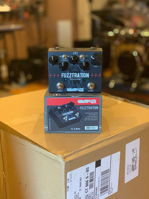 Wampler Fuzztration Fuzz and Octave guitar effects pedal demo display