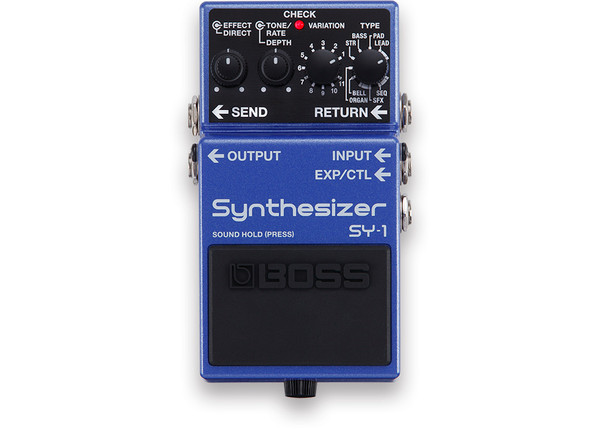 Boss SY-1 synthesizer guitar bass polyphonic pedal