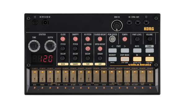 Korg Volca Beats Analogue Rhythm Machine demo Open box