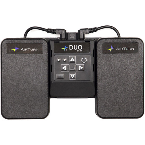 AirTurn DUO 200 2-Pedal Bluetooth Wireless Footswitch
