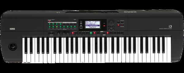 Korg i3 Music Workstation 61 keyboard matte black