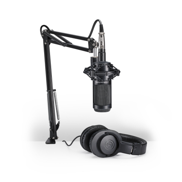 Audio-Technica AT2035PK Studio Microphone Pack with ATH-M20x and Boom Arm