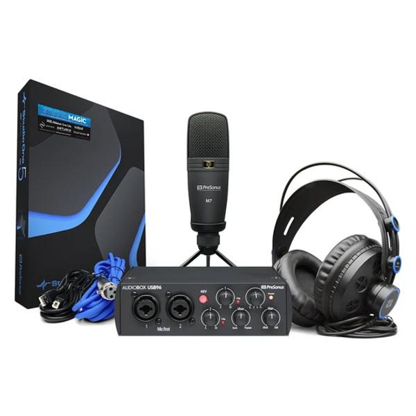 PreSonus AudioBox USB 96 Studio Bundle  25th Anniversary Black