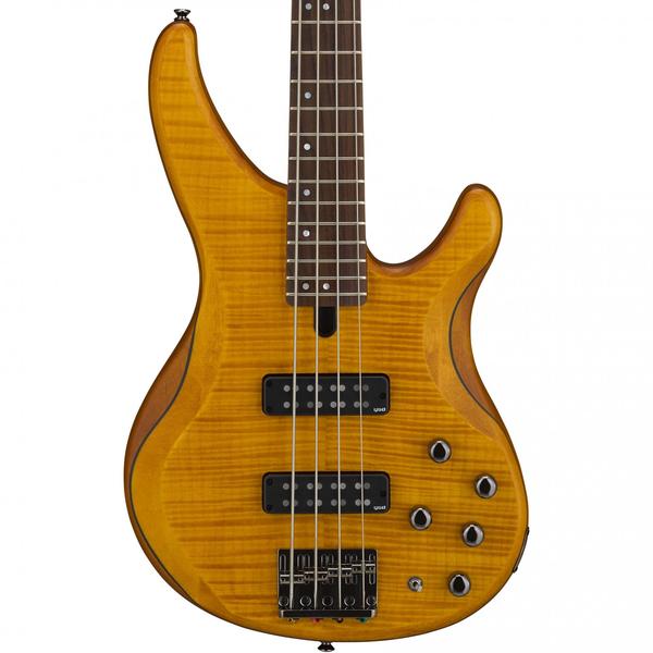 Yamaha TRBX604FM Matte Amber 4 string electric bass guitar