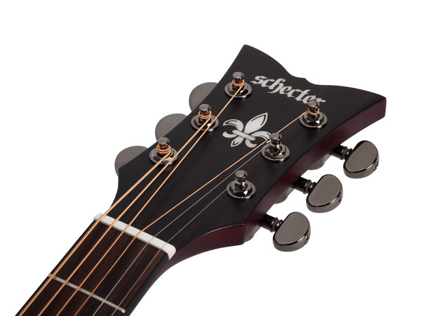 schecter orleans stage acoustic electric guitar 3711 natural with case audioworksct. Black Bedroom Furniture Sets. Home Design Ideas