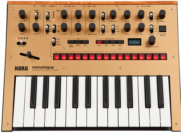Korg monologue Analog Synthesizer Gold
