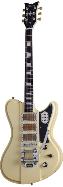 Schecter Ultra III IVYP electric guitar Ivory Pearl with SGR Case