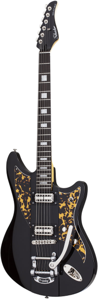Schecter Spitfire Black Leopard 298 electric guitar with hard case