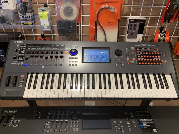 Yamaha Montage 6 61 key professional synthesizer used store display