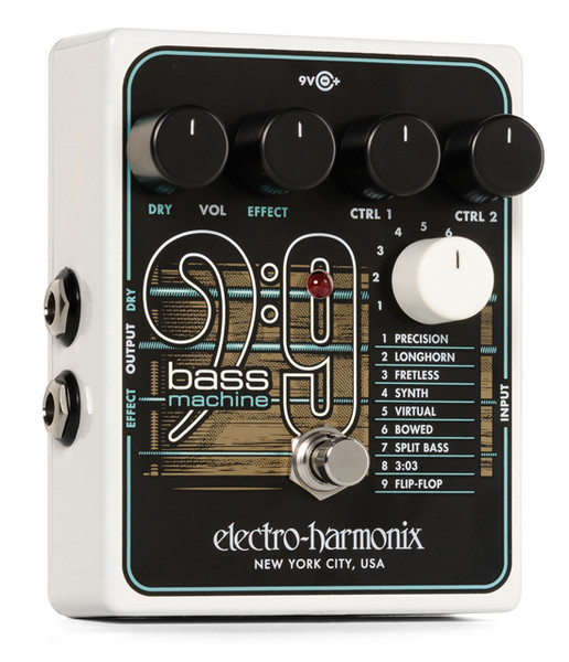 Electro-Harmonix polyphonic BASS9 Bass Machine effects pedal