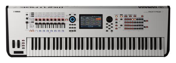 Yamaha Montage 7 76 key White Flagship Synthesizer keyboard