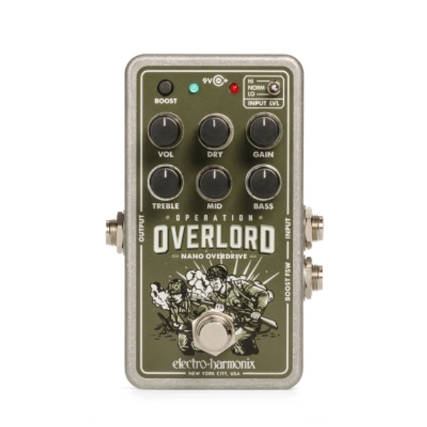 Electro-Harmonix Nano Operation Overlord overdrive distortion pedal