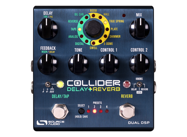 Source Audio Collider Delay + Reverb effects pedal