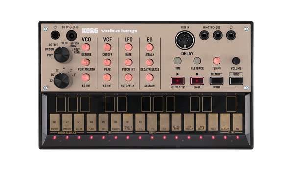 Korg Volca Keys analogue loop synth open box demo