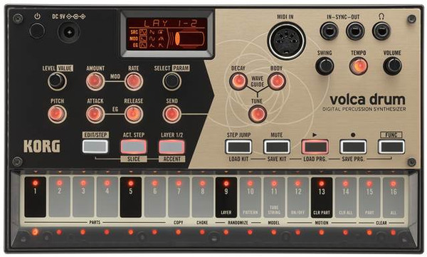 Korg Volca Drum Physical Modeling Drum Synthesizer open box demo