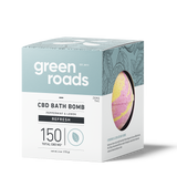 Green Roads large CBD Bath Bomb - Refresh (peppermint & lemon)