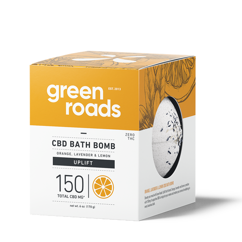 Green Roads large CBD Bath Bomb - UPLIFT (orange, lemon, lavender)