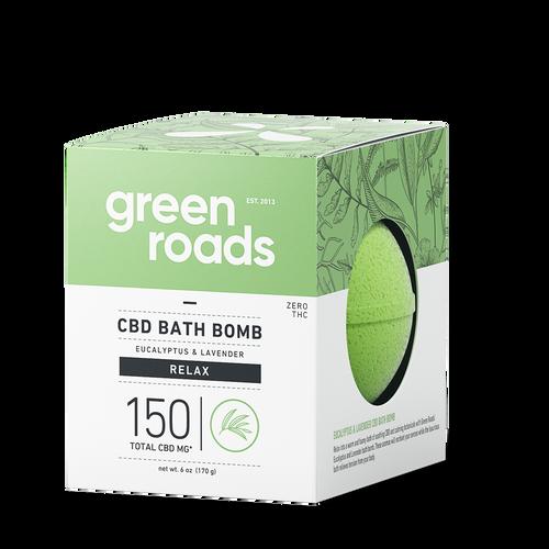 Green Roads large CBD Bath Bomb - Relax (eucalyptus & lavender)