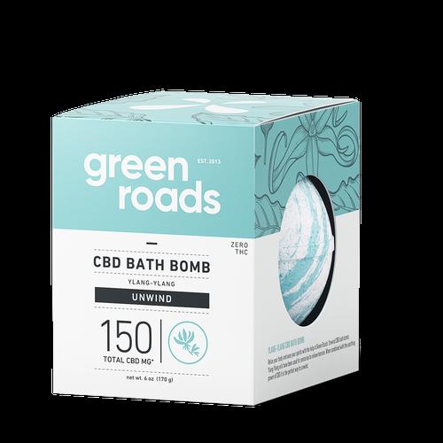 Green Roads large CBD Bath Bomb - Unwind (ylang ylang)