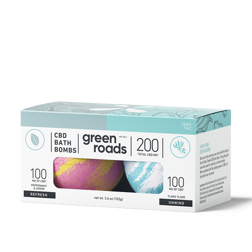 Green Roads CBD Bath Bomb 2-pack Refresh & Unwind