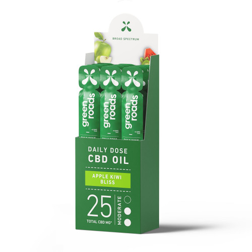 12-pack of Green Roads' Apple Kiwi Bliss Daily Dose CBD Oil